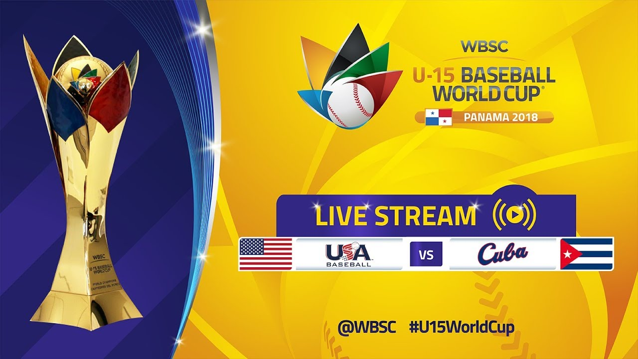 USA v Cuba - Super Round - U-15 Baseball World Cup 2018