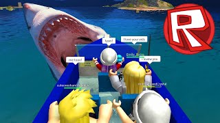 ROBLOX LET'S PLAY SHARK ATTACK avec FANS (fr) JEUX RADIOJH