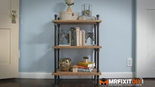 DIY INDUSTRIAL PIPE BOOK SHELF