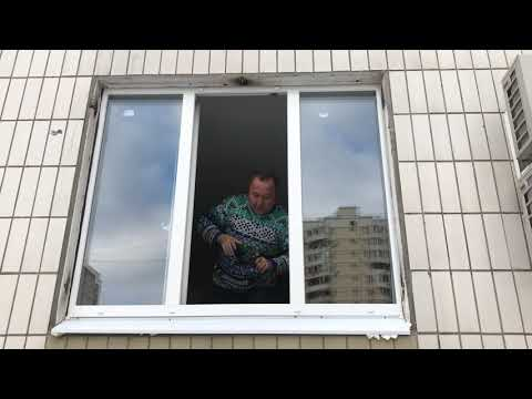 Как самому установить москитную сетку на  пластиковое окно. Видеоинструкция.