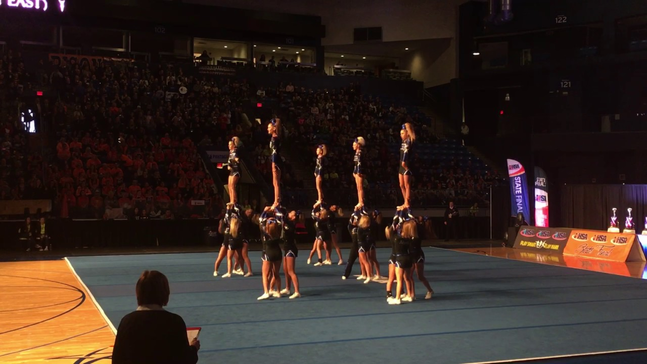 Lincoln Way East Varsity Cheer 2017 State Finals Youtube