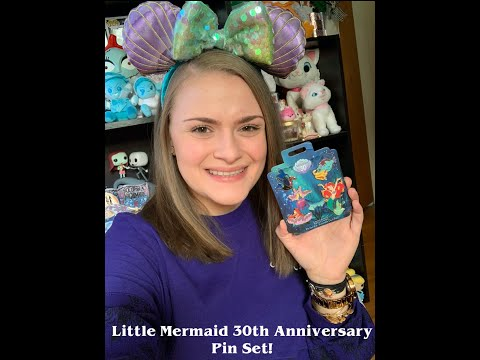 LITTLE MERMAID 30TH ANNIVERSARY PIN COLLECTION AND DISNEY STORE HAUL!
