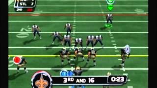 NFL Blitz 20-02 Gameplay - Season 1, Week 17 - Rams @ Saints