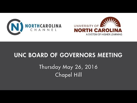 UNC Board of Governors Meeting: Strategic Priorities Discussion | May 26, 2016