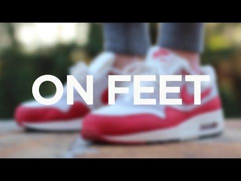 494f89c0f7 ON FEET: Nike Air Max 1 OG - University Red - YouTube