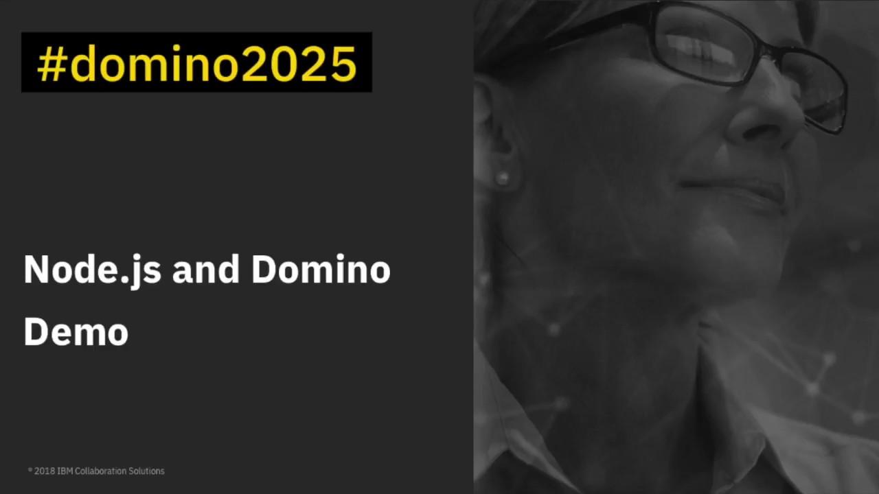 Domino V10 Sneak Peek Demo Node Js Youtube