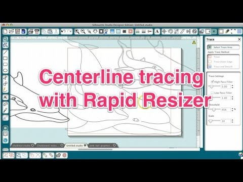 Centerline Trace With Rapid Resizer Youtube