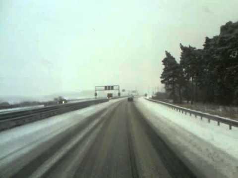 Snow on Slovak D1 motorway
