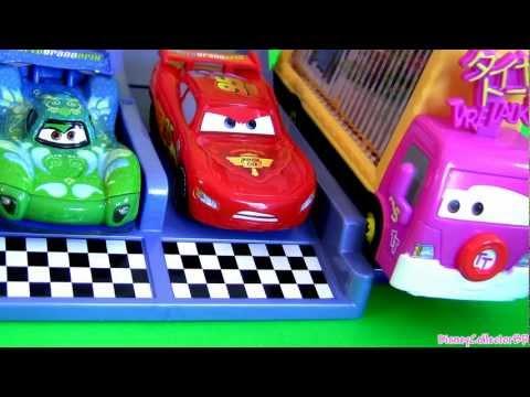 Taia Decotura Photo Finish Raceway track set Cars Disney figure Pixar Mattel playset review