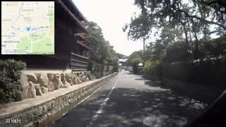 京都 南禅寺 駐輪場(白川通より野村碧雲荘(西門)方面へ)