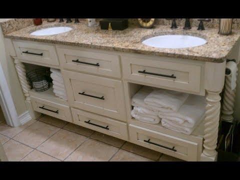 Distressed Bathroom Vanities distressed bathroom vanity - youtube