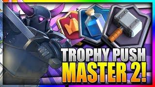 TROPHY PUSH w/ BEST PEKKA DECK!! 5200 Master 2 League!! - Clash Royale