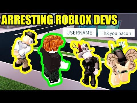 ARRESTING ROBLOX DEVELOPERS *RAGE QUITTER!!!* | Roblox Jailbreak New Update