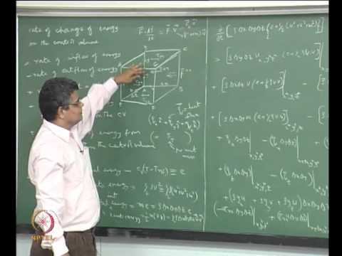 Mod-06 Lec-32 Derivation of the energy conservation equation