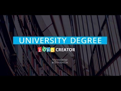 SagitaZ pays you the University Degree Zoho Creator