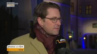 CSU-Klausur in Seeon: Interview mit Generalsekretär Andreas Scheuer am 04.01.2017