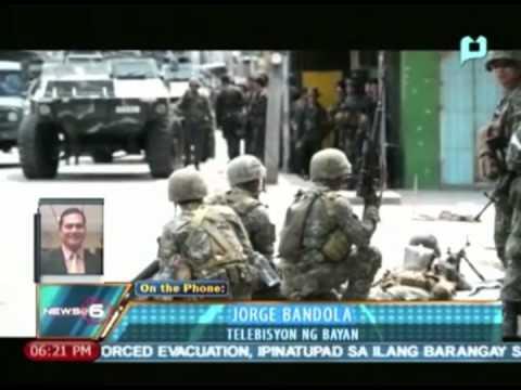 News@6: (As of 6:18PM - Sep. 13, '13) Update sa muling bakbakan ng MNLF at militar sa Zambo