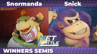 NBS9 | Snormanda (Bowser Jr.) vs Snick (Donkey Kong) | Winners Semis