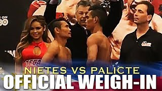 NIETES VS PALICTE WEIGH-IN FOR THE VACANT WBO SUPERFLY BELT