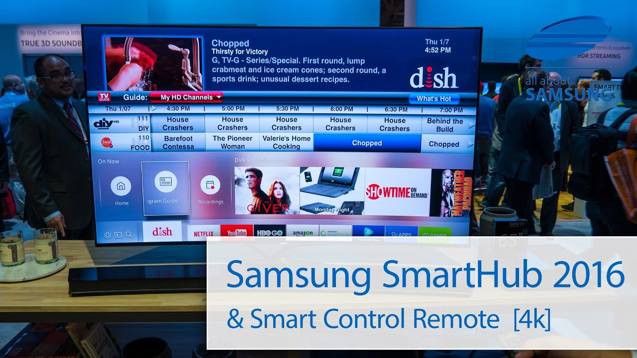 Samsung 2016 Smarthub Interface Und Smart Control Remote 4k Youtube