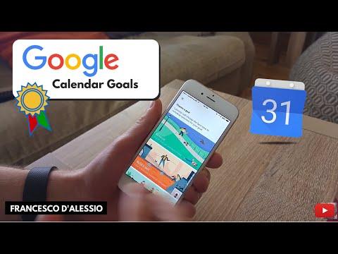 Setting Goals In Google Calendar