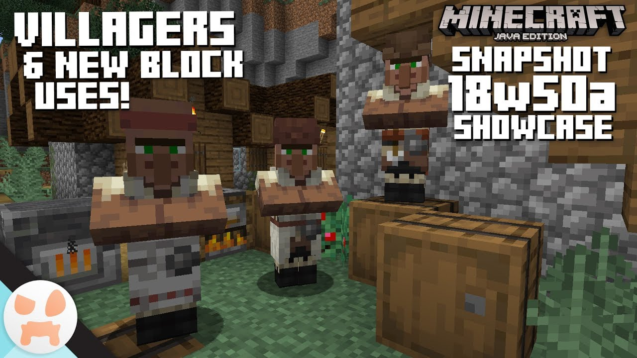 NEW VILLAGERS & BLOCK USES!  122w122a Snapshot Features & Changes -  Minecraft 12.124