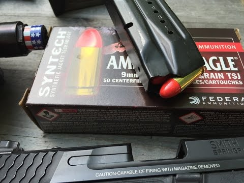 9x19mm, 115gr TSJ (Total Synthetic Jacket) American Eagle Syntech, Velocity Test