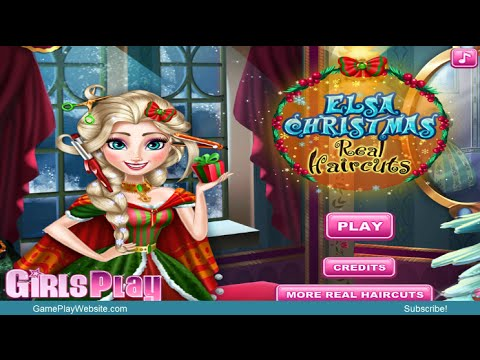 Frozen Elsa Christmas Real Haircut Video Game – Baby Girl Games
