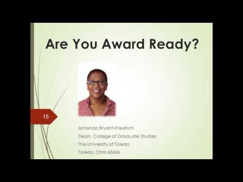 Becoming Award Ready Webinar