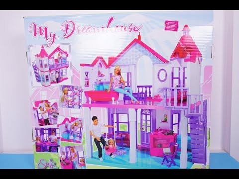 New Dreamhouse Unboxing    Barbie dollhouse toys opening