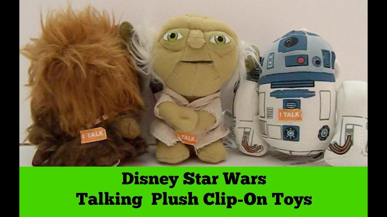 Disney Star Wars R2 D2 Chewbacca Yoda Talking Plush Doll Toy