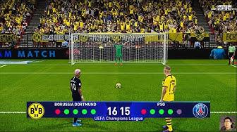 PES 2020 | Borussia Dortmund vs PSG | Penalty Shootout | UEFA Champions League | Neymar vs Haaland