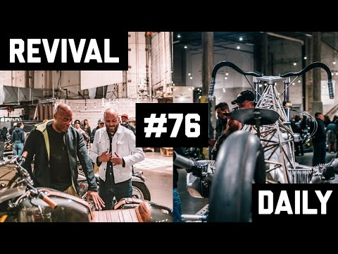 150 Motorcycles in one tour with Alonzo Boden at Handbuilt Show 2019! // Revival Daily 76
