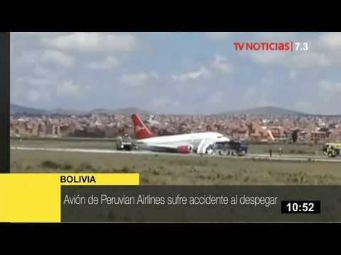 Bolivia: avión de Peruvian Airlines aterriza de emergencia