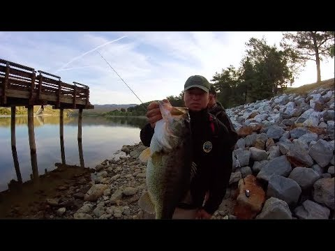 MONSTER Bass At Castaic Lagoon And POACHERS at Castaic