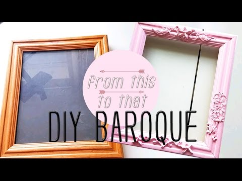 DIY Baroque Style Frame - Thrift It