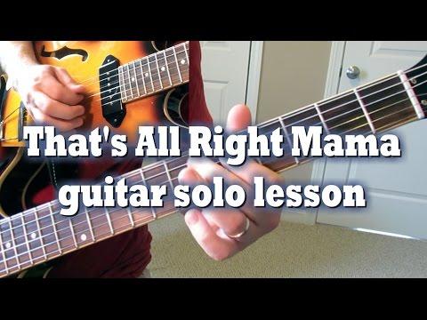 That's All Right Mama guitar solo lesson by Tom Conlon