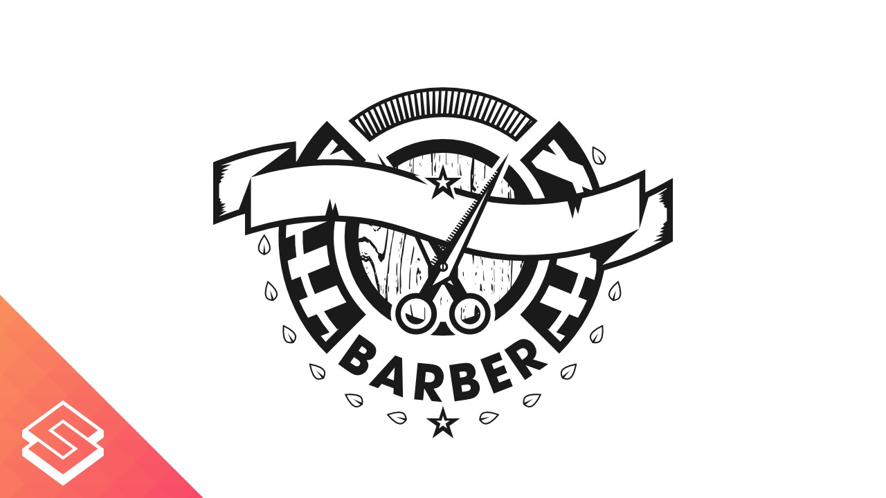 Barber Logo Design Time Lapse in Inkscape - YouTube