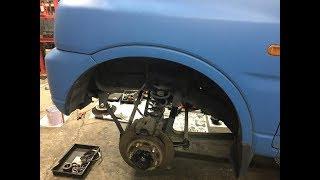 ジムニーJB23ハンドルジャダー修理