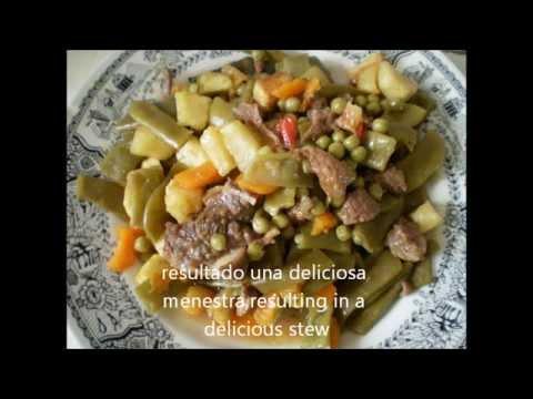 Como hacer una menestra de carne y verduras en casa - Como preparar menestra de verduras ...
