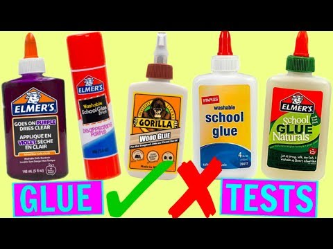 TESTING DIFFERENT TYPES OF GLUES FOR SLIME! Which Glue is Best for Making Slime Test? GLUE TYPES!
