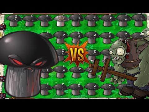 Plants vs Zombies epic Hack - Doom-shroom & Squash vs Gargantuar
