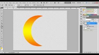 cara mudah buat bulan sabit dengan photosop