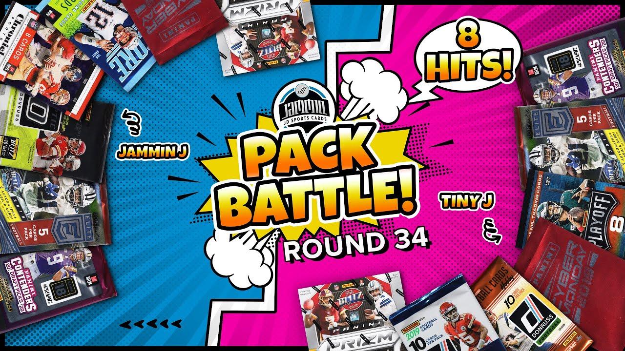 Pack Battle EP. 34 | Random Football Card Hobby Pack Opening | 8 HITS!!!