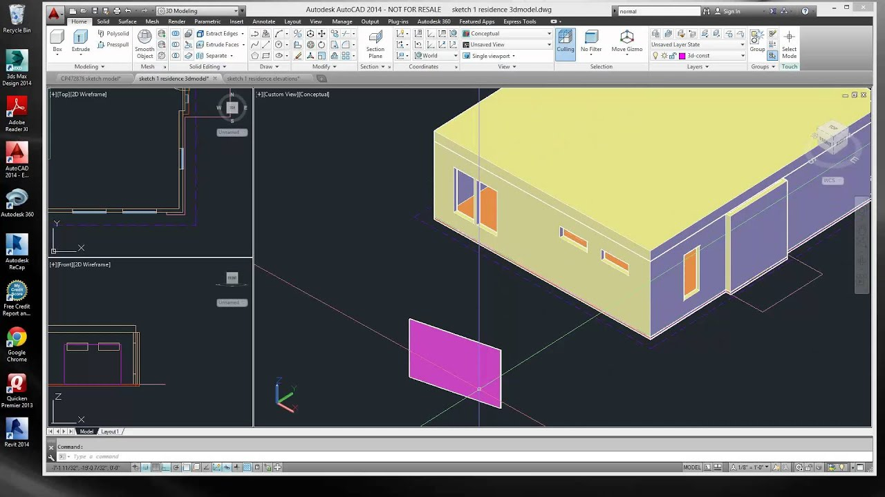 Autocad Surface Normals 9 2 2013 7 46 42 Pm Youtube