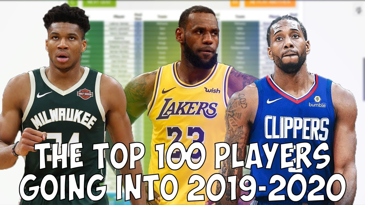 Guessing The Top 100 Nba Players For The 2019 2020 Season