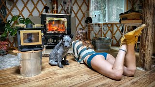 Best Mini Wood Stove for Living Off Grid - Chimney and FIRST FIRE | Adopting Puppies - Ep. 56