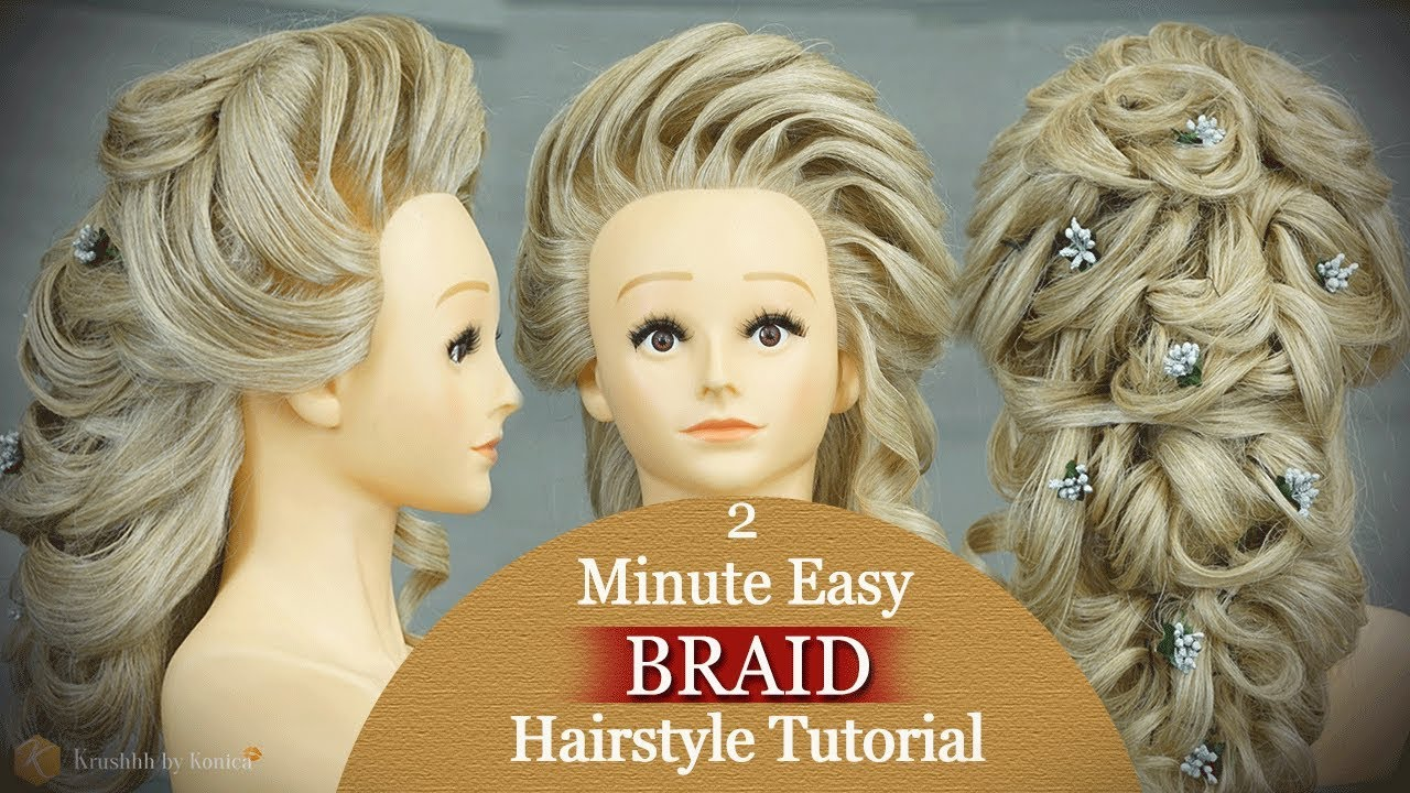 Easy Messy Braid Hairstyle Tutorial | Step by Step Messy Hairstyle ...
