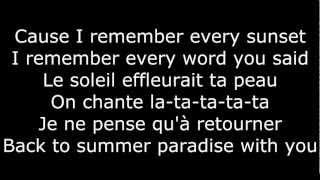 Simple Plan - Summer Paradise | ft. Sean Paul (Version Française) | LYRICS/PAROLES