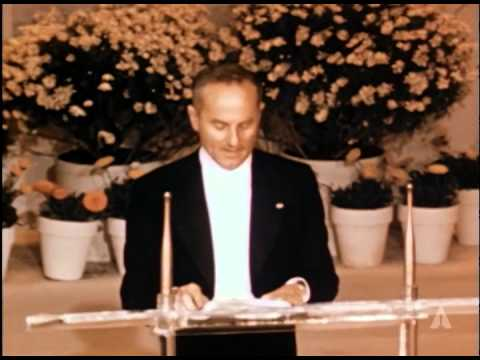 Gene Kelly and Arthur Freed receiving Special Awards